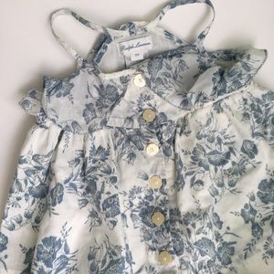Ralph Lauren Floral top and diaper cover •12M•